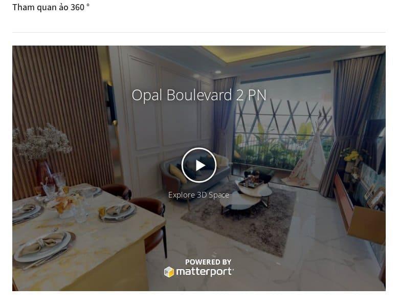 Bất động sản chi tiết - Tham quan ảo 360