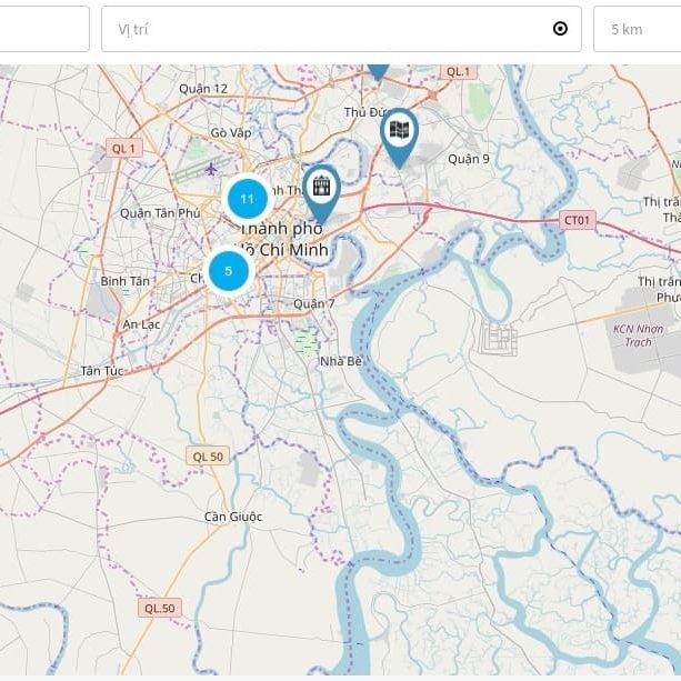 Bản đồ bất động sản - 1. Toàn diện bản đồ tìm kiếm bất động sản trên CareLife.Top