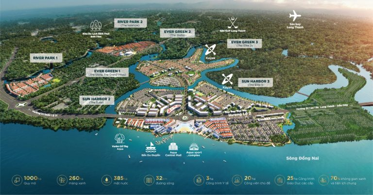 Mặt bằng tổng thể dự án Aqua City
